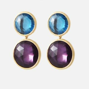 4483ee373ef3e Details about Marco Bicego Jaipur Earrings, 18K, Amethyst & Blue Topaz