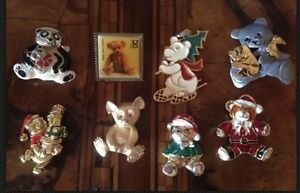 Napier-Ultra-Disney-Lot-Teddy-Bear-Pins-Lotto-Spille-Orsacchiotto-Vintage