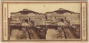 Napoli-Italia-Foto-Giorgio-Conrad-Stereo-Vintage-Albumina-Ca-1865