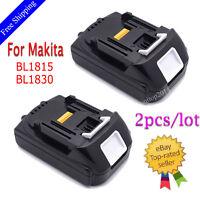 2pcs 18V 1.5Ah Lithium Ion Battery LXT For Makita BL1830 BL1815 Pack 18 Volt