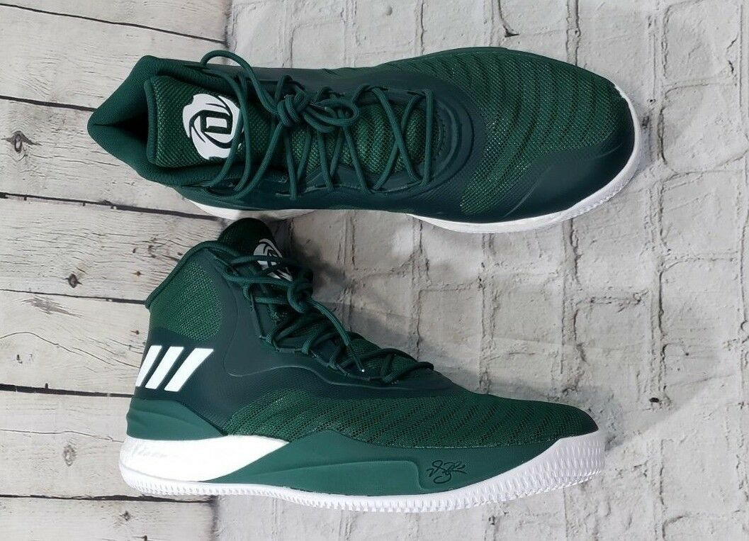 Adidas D Rose Basketball Shoes Sneaker CQ1628 NBA Green White New CQ1628 Sneaker Men SIZE 14 f3ed13