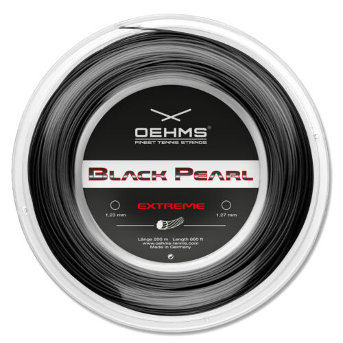 """1,27mm 660ft OEHMS /""""BLACK PEARL EXTREME/"""" Co-Polyester Tennis String"""