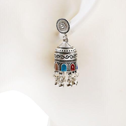 Vintage Women Tassel Beads Dangle Color Bells Ethnic Earrings Tribal Jewelry
