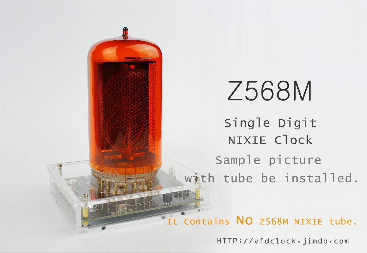 No Tube Z568m Usb Powered Single Digit Nixie Clock Acrylic Schematic Of My 6 Here Are Some Photos Weightgweight With The Installed Works Any Standard Power Supplyuse Only High Quality Adapter