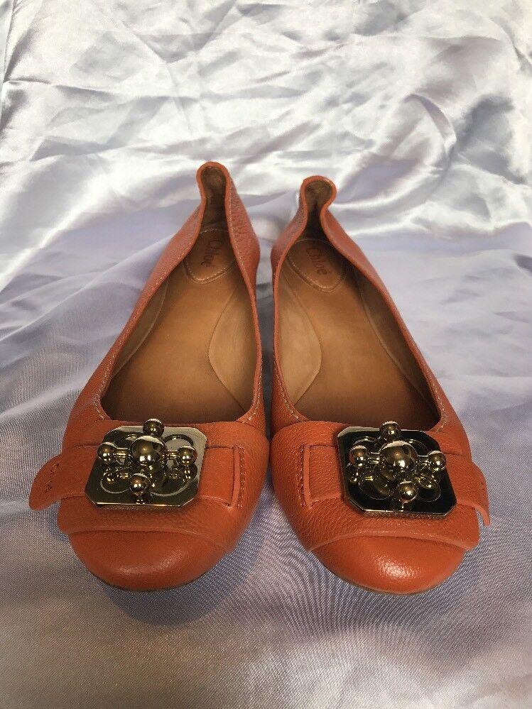 Chloe Tan Leather Tan Pumps Größe 38