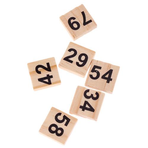 100x Wooden Number Tiles 1-100 Black Number Cube Blocks for Wedding Craft