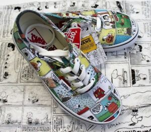 7139bb1483 Image is loading Vans-X-Peanuts-Authentic-Comics-Strips-Athletic-Shoes-