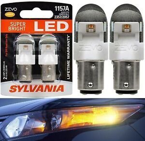 Sylvania-ZEVO-LED-Light-1157-Amber-Orange-Two-Bulbs-Front-Turn-Signal-Lamp-Fit