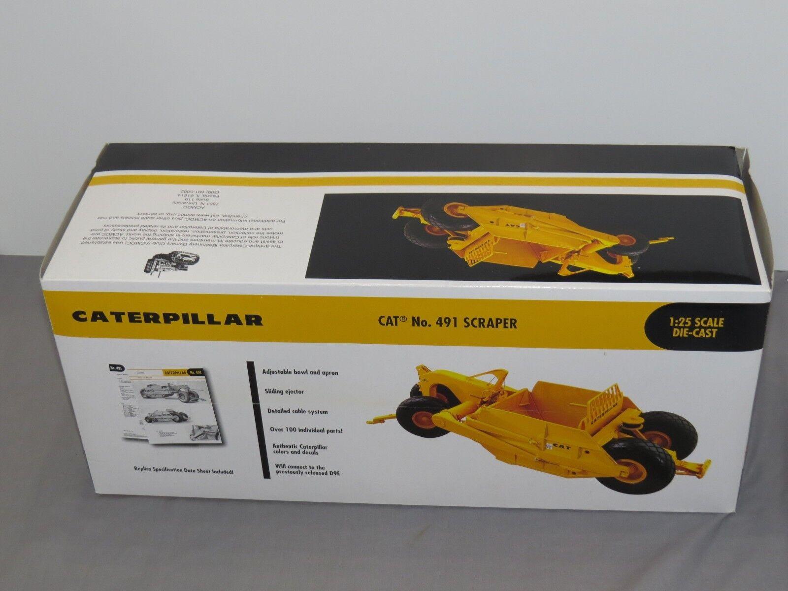 Vintage Caterpillar 491 Scraper 1 25 First Gear Tractor Crawler HIGH DETAIL