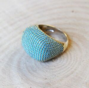 925-Sterling-Silver-Handmade-Authentic-Turkish-Turquoise-Ladies-Ring-Size-8