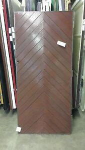 30 x 66 Apex Belgravia PERSONNEL GRP Mahogany Woodgrain Front Doors