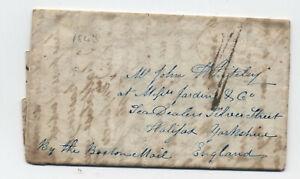 1843-Harnden-express-transatlantic-stampless-Taunton-MA-to-England-H-490