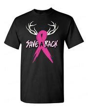 Save a Rack Breast Cancer Awareness T-SHIRT deer pink ribbon survivor men's tee