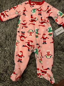 3 Months Carters Christmas Reindeer Boy Infant Sleeper Bodysuit SIZES Newborn