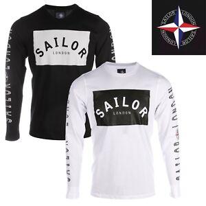 Mens-Crew-Neck-Long-Sleeve-Designer-T-shirts-by-Sailor-London
