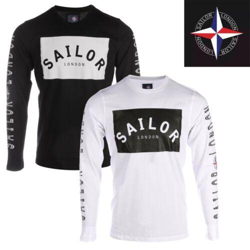 Mens Crew Neck Long Sleeve Designer T-shirts by Sailor London