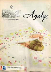 Other Breweriana Publicité Advertising 1968 Linge De Maison Draps Agalys L