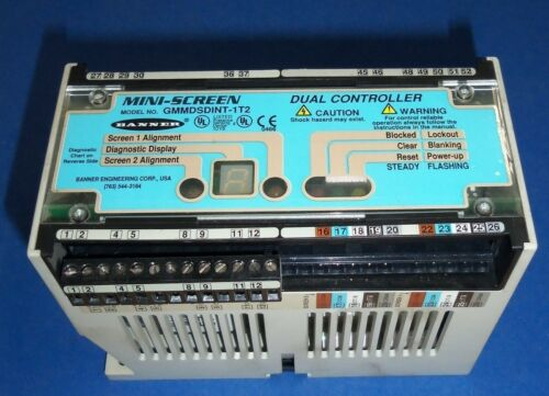 BANNER MINI-SCREEN DUAL CONTROLLER LIGHT CURTAIN CONTROLLER GMMDSDINT-1T2