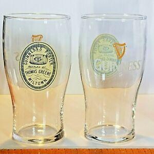 "Lot of 2 Beamish Genuine Irish Stout 20 oz Imperial Pint Bar Pub Glass 6 1//8/"""