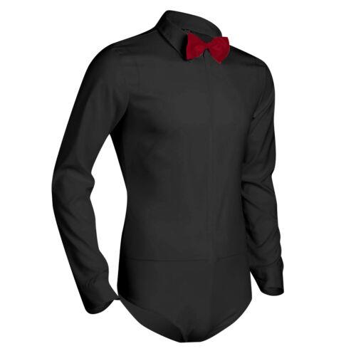 Plus Men Dance Shirt Ballroom Modern Salsa Samba Smooth Latin Long Sleeve Bowtie