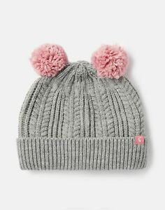 Joules Girls Ailsa Double Pom Hat - GREY MARL