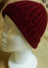 Mens Winter Warm Red Ski Hat Cap Beanie New