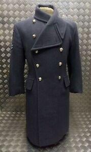 Genuine-British-Royal-Air-Force-RAF-Queen-039-Colour-Squadron-Issue-Wool-Greatcoat