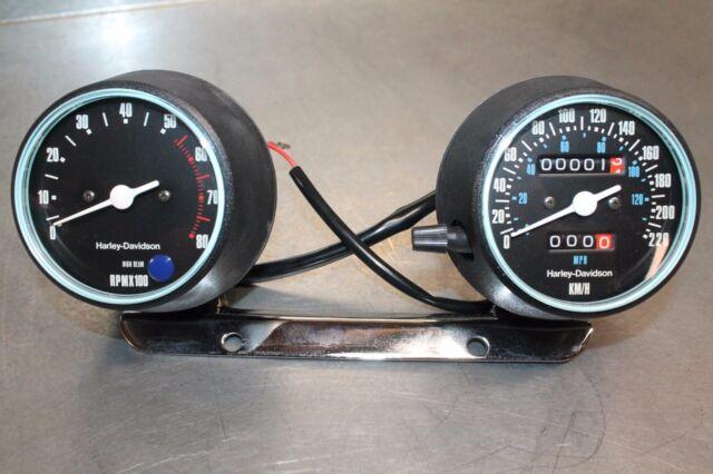 NOS Harley Davidson Gauges Speedometer Tachometer FXR MPH
