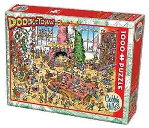 Cobblehill Puzzles 1000 piece - DoodleTown: Elves at Work CBL53506 Jigsaw
