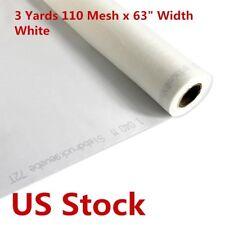Us Stock 3 Yards 110 Mesh 63 Width White Silk Screen Silkscreen Printing Fabric
