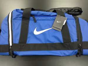 50eb1e494e86 Nike Swoosh Max Air Elite Duffle Travel Basketbal Gym Bag M Blue ...