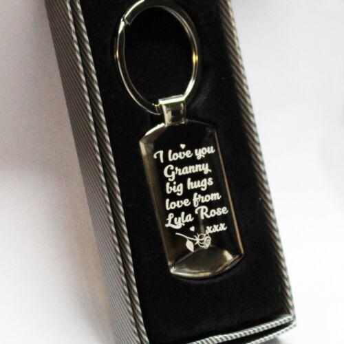 Personalised customised Metal Keyring Photo Valentines Day Engraving Templates