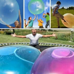 Large Wubble Bubble Ball Balloon Transparent 120cm Inflatable Water Toy Rubber