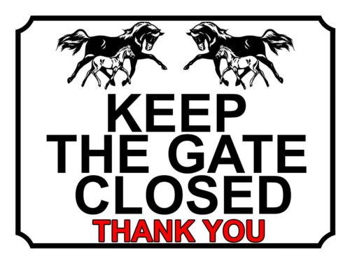 recinzione mantenere il cancello chiuso grazie Multi 25 giardino giardino METAL Gate segni