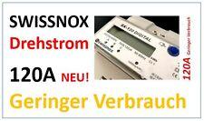 SWISSNOX SX-120A Drehstromzähler Hutschiene Wattmeter 3Phasen Energie Strom Kwh