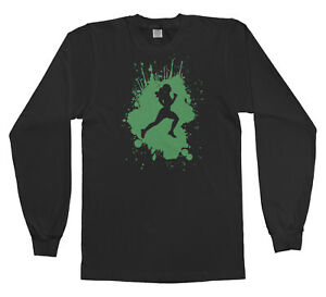 Track Runner Splatter Girl Youth T-Shirt Team Gift Idea