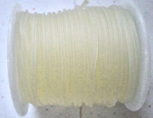Bobine complète 10m x 3 mm-caoutchouc cordon lanière-semi-clear