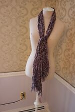 NWT  RAJ Cotton PURPLE SMALL FLORAL PRINT Scarf GREAT GIFT Valentines Day??