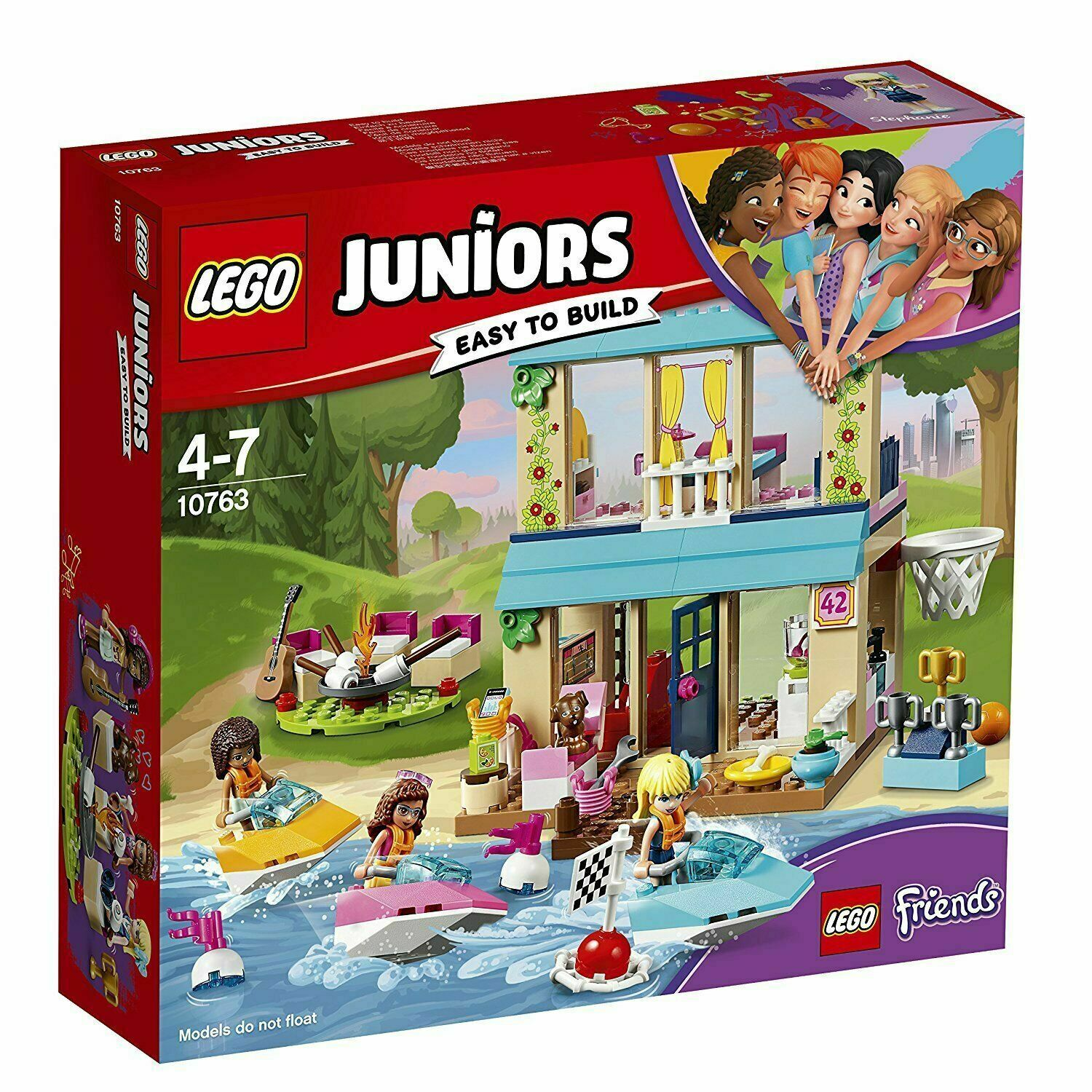 Lego Juniors 10763 Stephanie's House House House at the Lake - New Sealed 3a7268