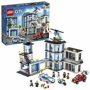 LEGO-City-Police-Station-Toy-Helicopter-Car-and-Bike-60141