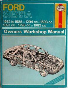 Haynes-Ford-Sierra-1982-1985-Propietario-Manual-de-Taller-Usado-Estado-1st