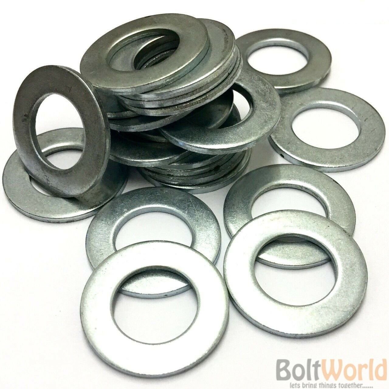 M5 M6 M8 M10 M12 M14 M16 M20 M24 FORM B ZINC PLATED WASHERS BZP BRIGHT BS43200