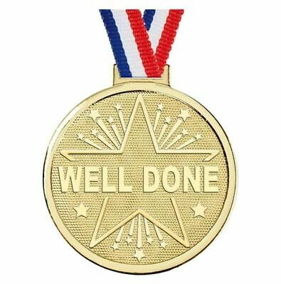 WELL DONE GOLD MEDAL 50MM FREE ENGRAVING FREE RIBBON FREE P&P AM1182.01 | eBay