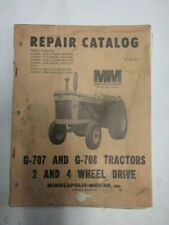 Original Minneapolis Moline G 707 Amp G 708 Tractor Repair Catalog Service Manual