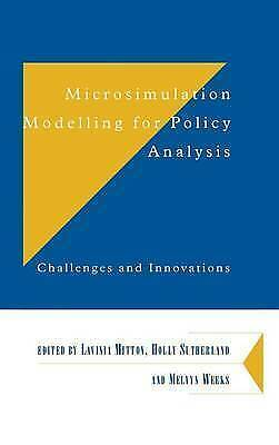 Microsimulation Modelling for Policy Analysis: Challenges and Innovations (Depa