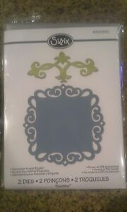 Sizzix-Ellison-thinlits-Decorative-accent-amp-label-metal-dies-New-in-package