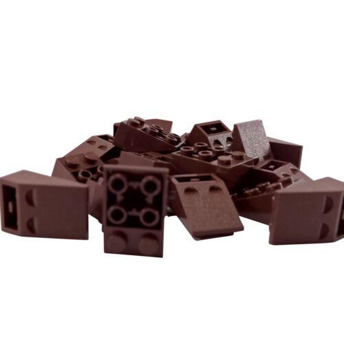 20 NEW LEGO Slope, Inverted 33 3 x 2 Bricks reddish brown