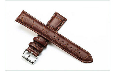 Soft Genuine Leather Strap Steel Buckle Wrist Watch Band Strap 14mm-24mm