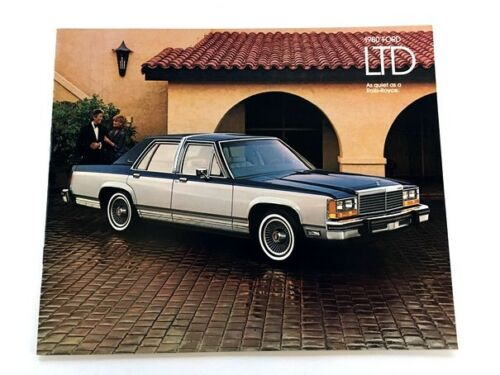 1980 Ford LTD Crown Victoria Sales Brochure Catalog - Country Squire Wagon