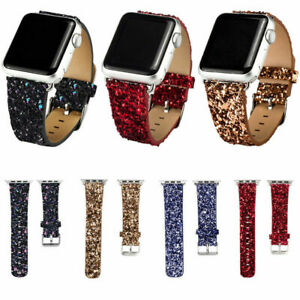 For Apple Watch Bands Iwatch Series 5 4 3 2 1 Glitter Bling Leather Band 38 42mm Ebay